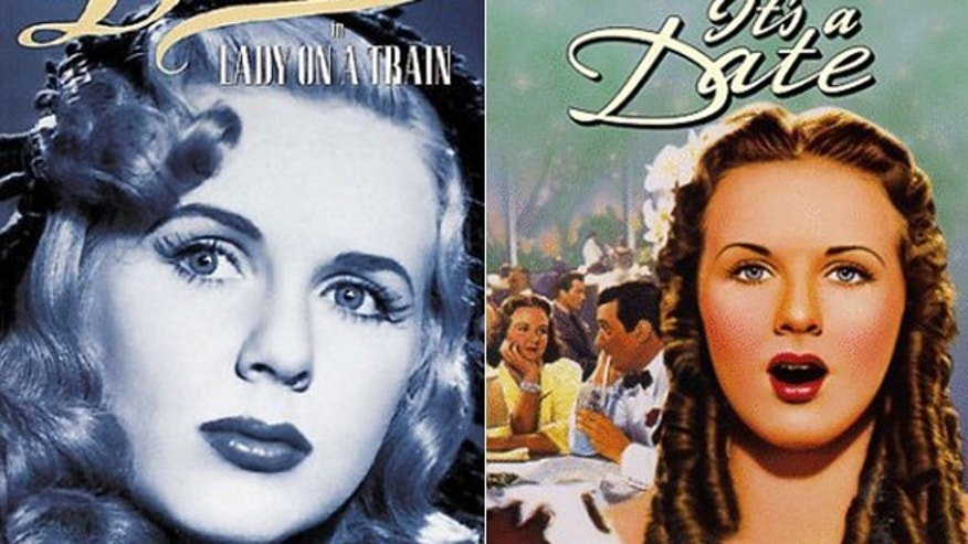 Deanna Durbin is seen on movie covers.