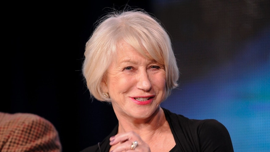 "British actress Helen Mirren takes part in a panel discussion of HBO's ""Phil Spector"" during the 2013 Winter Press Tour for the Television Critics Association in Pasadena, California January 4, 2013."