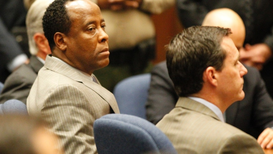Nov. 7, 2011: Dr. Conrad Murray listens as the jury returns with a guilty verdict in his involuntary manslaughter trial in a Los Angeles courtroom .