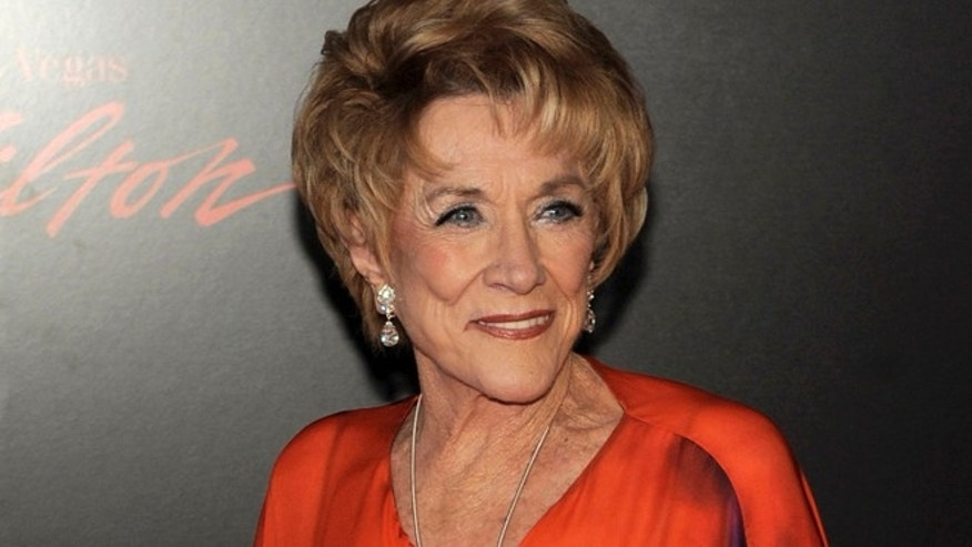 In this June 27, 2010 file photo, actress Jeanne Cooper arrives at the 37th Annual Daytime Emmy Awards in Las Vegas. CBS says soap opera star Jeanne Cooper has died. She was 84.