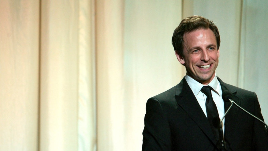 Host Seth Meyers of Saturday Night Live speaks to the crowd during the 12th Annual Webby Awards held in New York June 10, 2008.