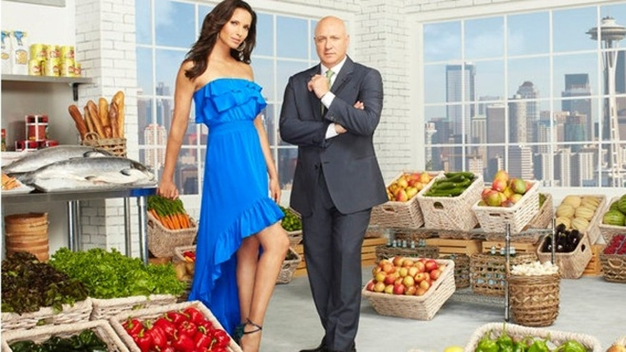 Padma Lakshmi and Tom Colicchio.