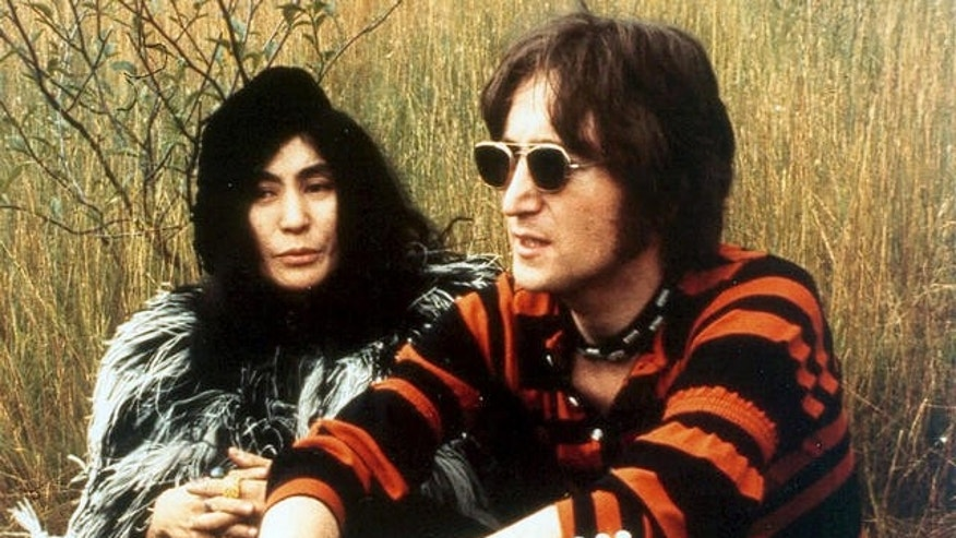 Yoko Ono and John Lennon are shown in 1970.