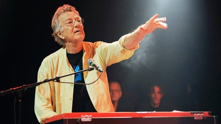 "Aug. 16, 2012"" In this file photo, Ray Manzarek of The Doors performs at the Sunset Strip Music Festival launch party celebrating The Doors at the House of Blues in West Hollywood, Calif. Manzarek, the keyboardist who was a founding member of The Doors, has died at 74."