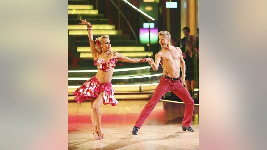"Kellie Pickler and Derek Hough are seen on ""Dancing With the Stars."""