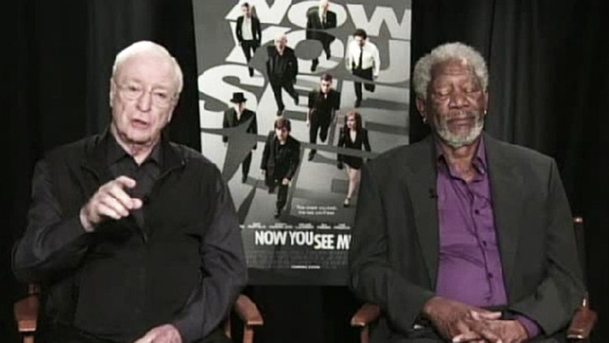 Morgan Freeman appears to fall asleep during a live interview.