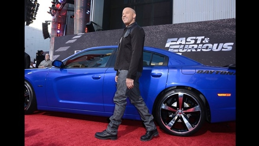 "May 21, 2013: Actor Vin Diesel arrives at the LA Premiere of the ""Fast & Furious 6"" at the Gibson Amphitheatre in Universal City, Calif."