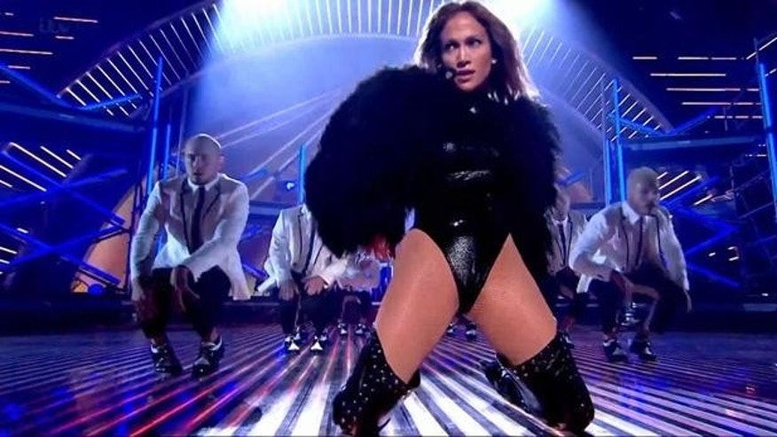 "Jennifer Lopez performs her new single ""Live It Up"" on Britain's Got Talent."