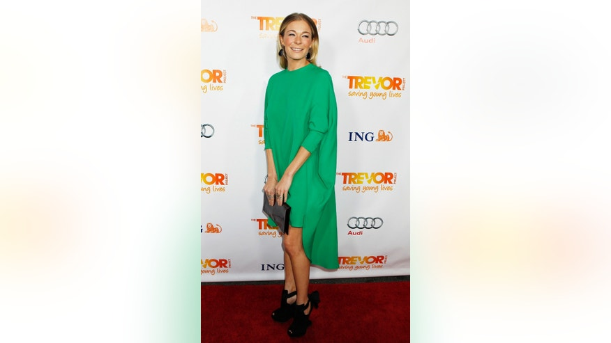 "Singer LeAnn Rimes arrives at The Trevor Project's ""Trevor Live"" fundraising dinner in Hollywood December 4, 2011."