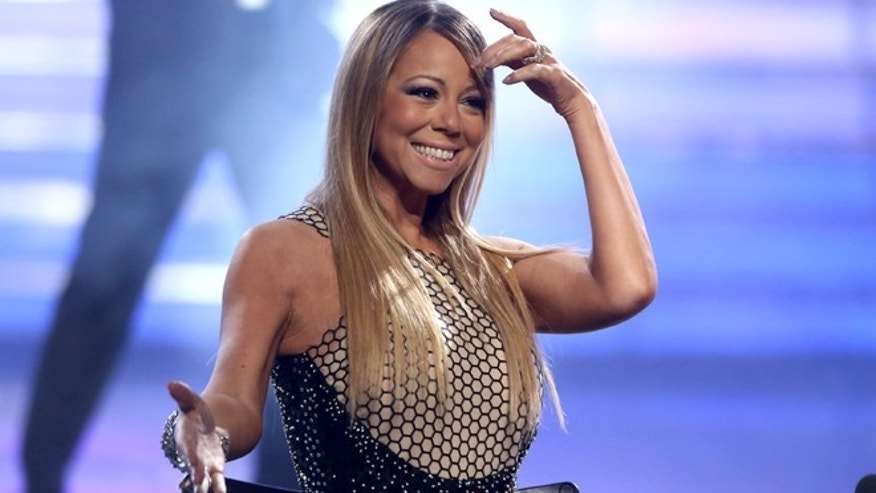 "May 16: Mariah Carey at the ""American Idol"" finale at the Nokia Theatre at L.A. Live  in Los Angeles."