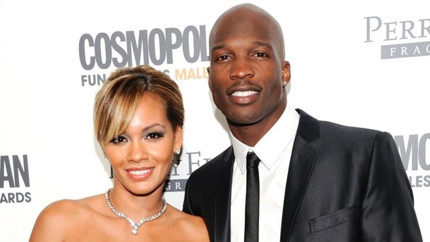 This March 7, 2011 file photo shows NFL Football player and reality television star Chad Johnson and Evelyn Lozada attending Cosmopolitan Magazine's Fun Fearless Males of 2011 event in New York.