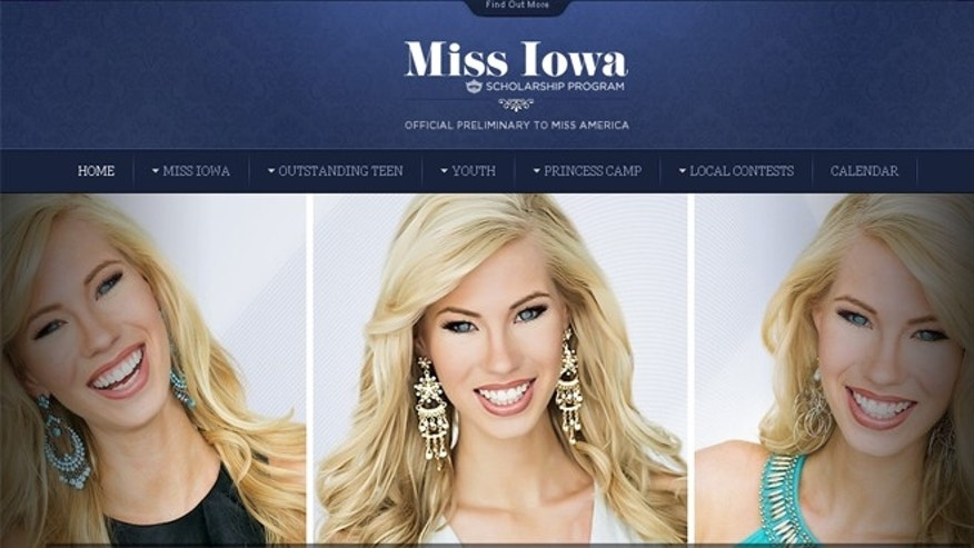 Nicole Kelly is seen on the Miss Iowa website.