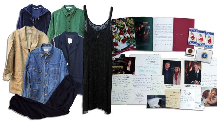Monica Lewinsky's items are up for auction on by the Nate D. Sanders auction house.