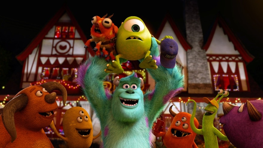 "This film publicity image released by Disney-Pixar shows a scene from ""Monsters University."" (AP Photo/Disney-Pixar)"
