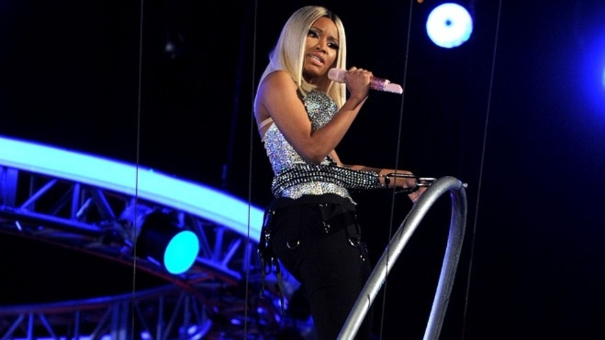 June 30, 2013: Nicki Minaj performs onstage at the BET Awards at the Nokia Theatre in Los Angeles.
