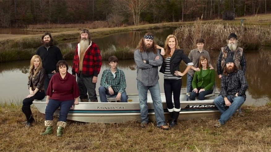 "The Robertson family from A&E's ""Duck Dynasty."""