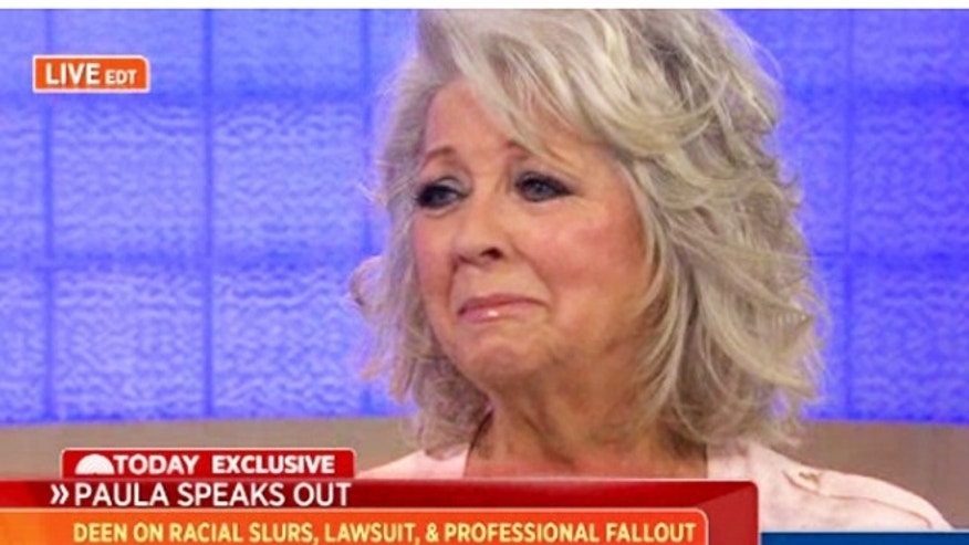 "Paula Deen speaks to Matt Lauer on the ""Today"" show."