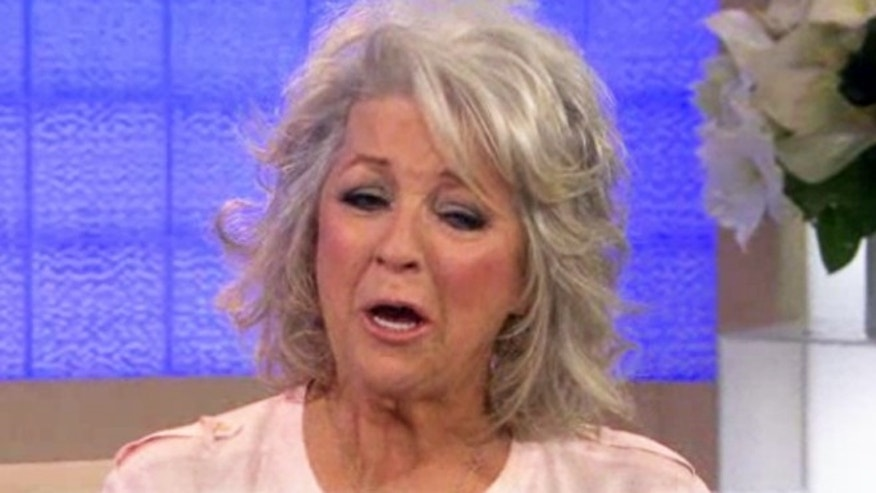 "Paula Deen cries as she speaks to Matt Lauer on the ""Today"" show."