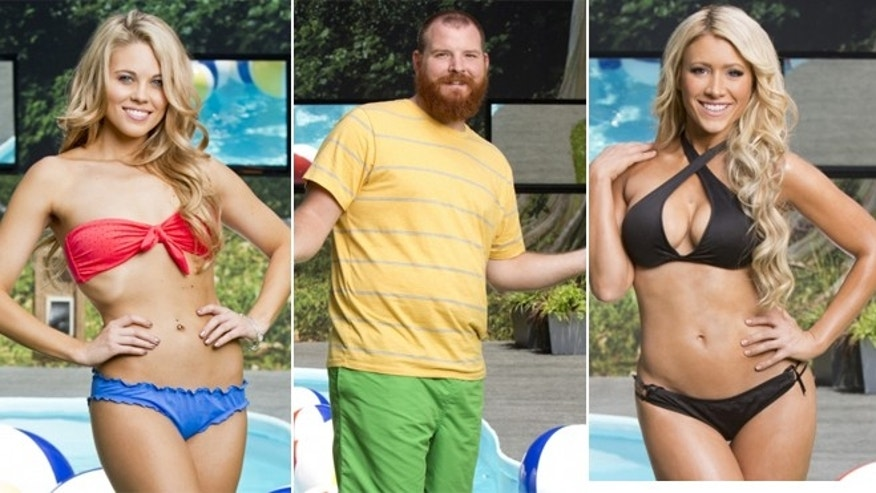 """Big Brother"" cast members Aaryn,left, Spencer, center, and GinaMarie are shown."