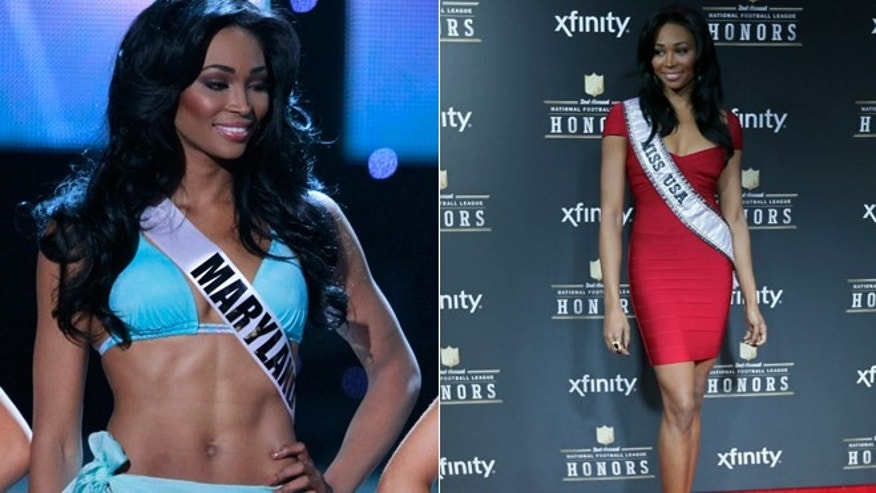 Former Miss USA Nana Meriwether is seen in these 2012 file photos.