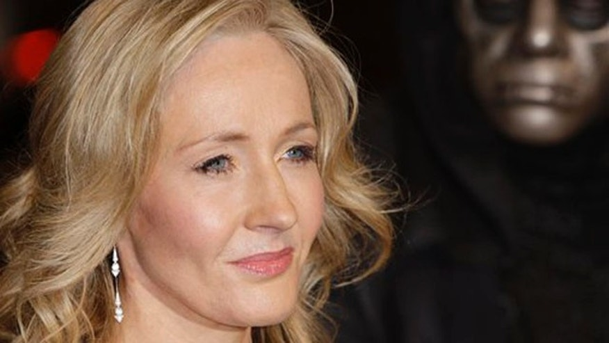 Nov. 11, 2010: In this file photo, British author J.K. Rowling arrives at a cinema in London's Leicester Square for the World Premiere of Harry Potter and the Deathly Hallows Part 1.