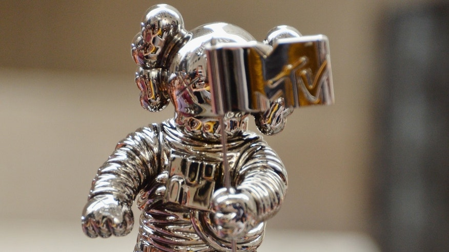 "The new MTV Video Music Awards Moonman on NBC's ""Today Show"" on July 12, 2013."