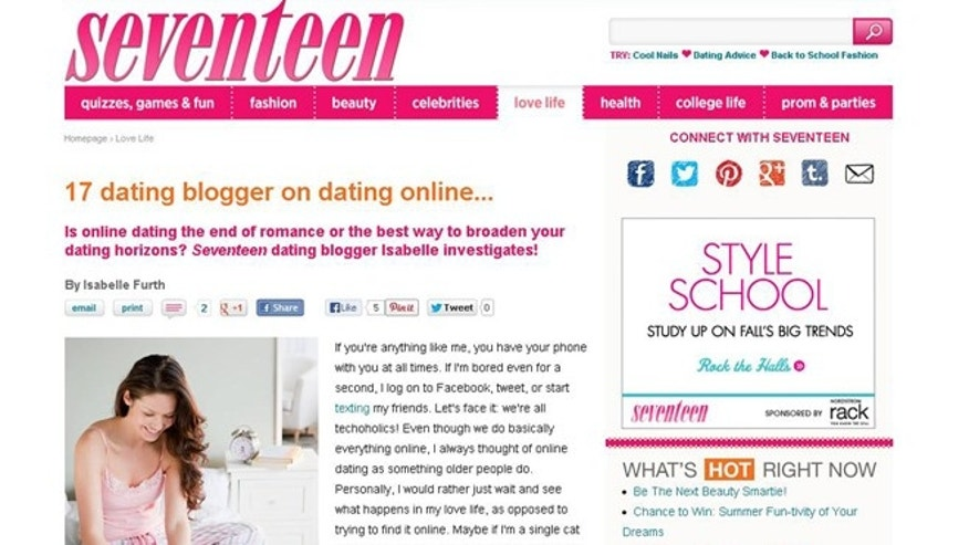 Seventeen Magazine slammed for article promoting online dating to ...