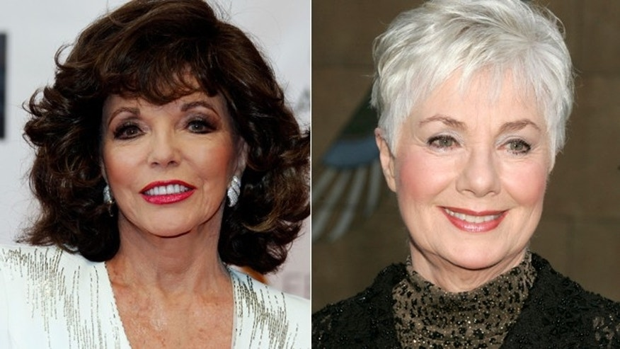 Joan Collins, left, and Shirley Jones.
