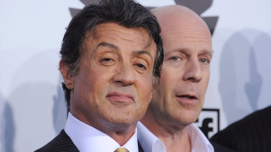 Sylvester Stallone insults Bruce Willis via Twitter: Which ... Bruce Willis Feud