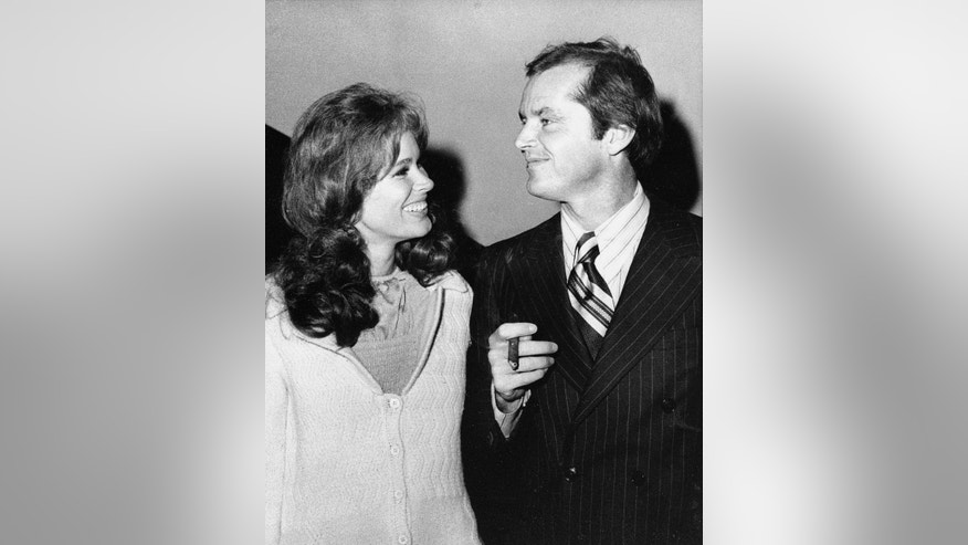 "In this Sept. 11, 1970 file photo, Jack Nicholson, right, and co-star Karen Black appear together at New York's Philharmonic Hall to attend the premiere of their new film ""Five Easy Pieces."""