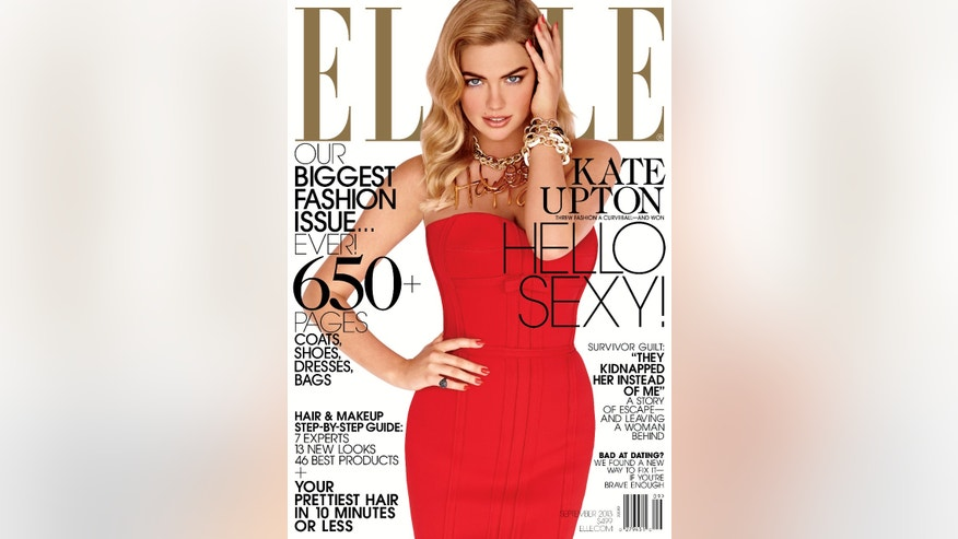 Kate Upton appears in the September issue of Elle.