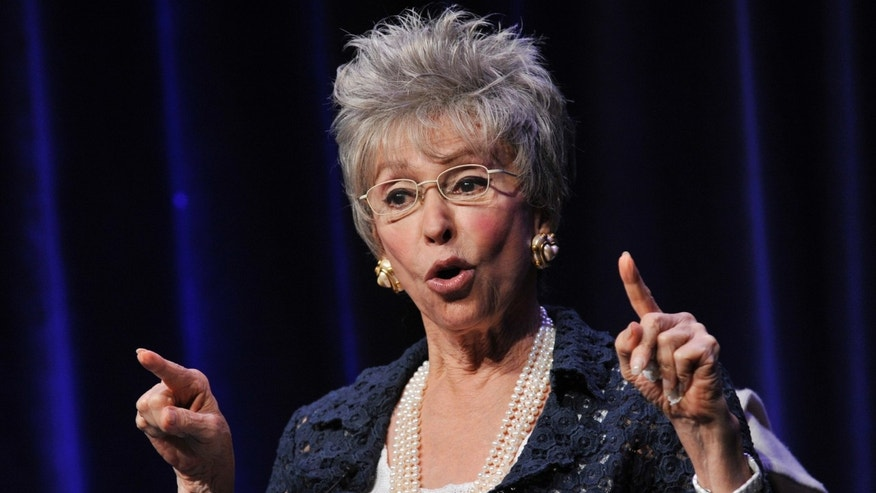 "Actress/singer Rita Moreno during a panel discussion on the documentary film ""Latino Americans"" on Wednesday, Aug. 7, 2013, in Beverly Hills, Calif."