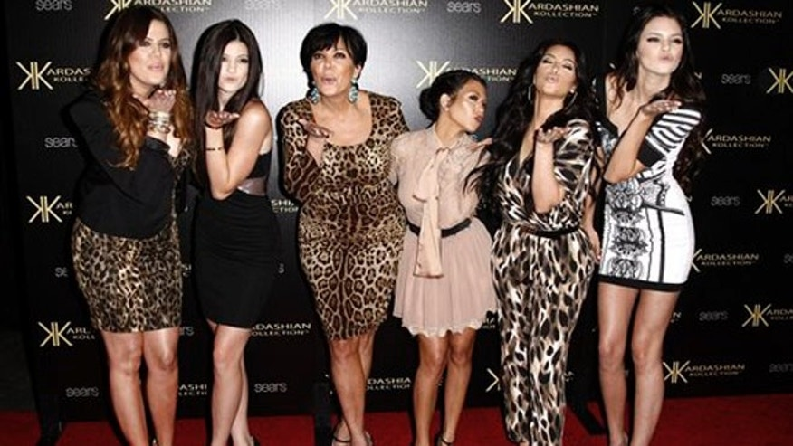 Aug. 17, 2011: In this file photo, from left, Khloe Kardashian, Kylie Jenner, Kris Jenner, Kourtney Kardashian, Kim Kardashian and Kendall Jenner arrive at the Kardashian Kollection launch party in Los Angeles.