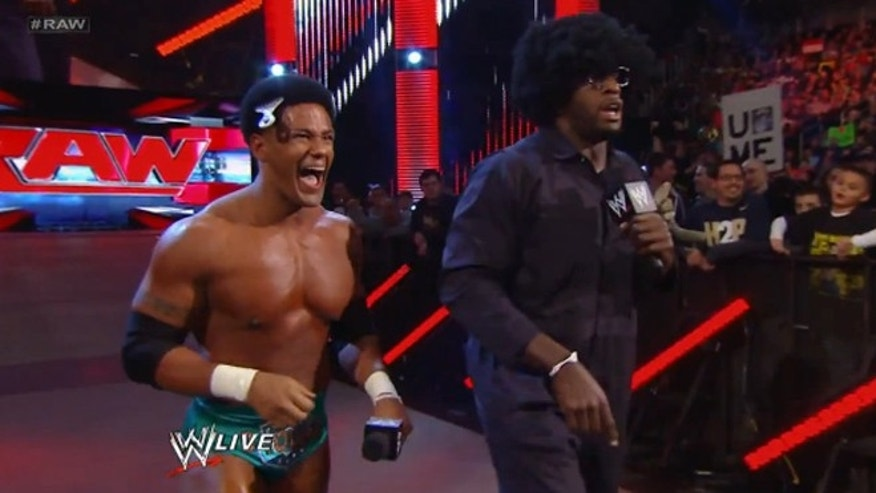 Darren Young appears with Titus O'Neil.
