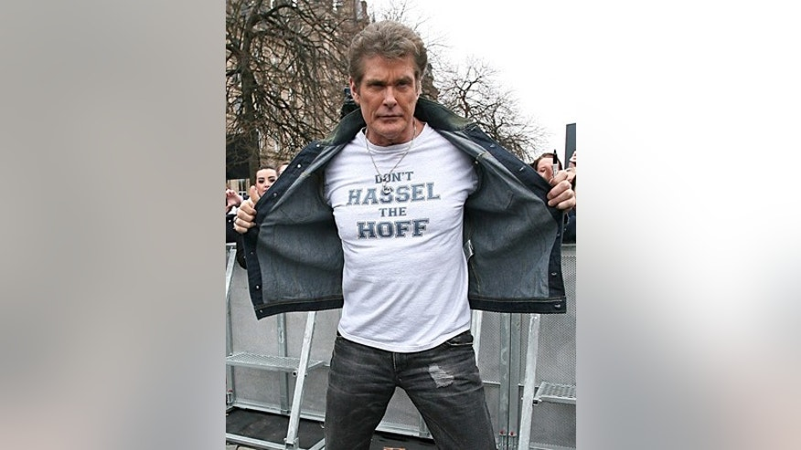 USA ONLYDavid Hasselhoff, Britain's Got Talent judge, arriving at the Empire Theatre for second round of auditions in Liverpool on January 22, 2011. X17online.com *** Local Caption *** . BigPictures/X17online.com