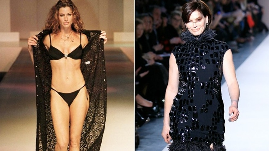 Carre Otis is seen in 1997, left, and in 2012.