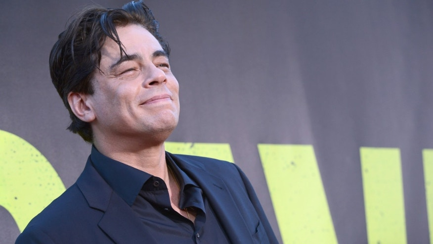 "LOS ANGELES, CA - JUNE 25:  Actor Benicio Del Toro arrives at Premiere of Universal Pictures' ""Savages""  at Westwood Village on June 25, 2012 in Los Angeles, California.  (Photo by Kevin Winter/Getty Images)"