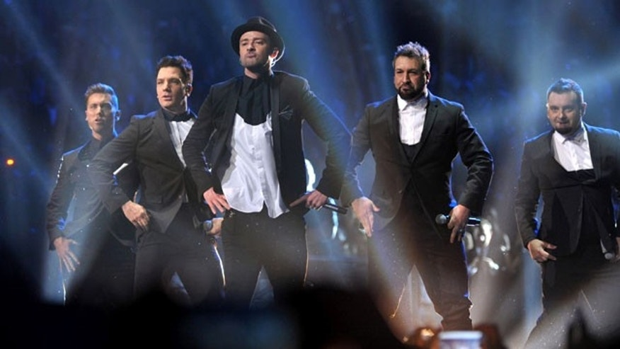 Sunday, August 25, 2013: This image released by MTV shows, from left, Lance Bass, JC Chasez, Justin Timberlake, Joey Fatone and Chris Kirkpatrick, of 'N Sync, at the MTV Video Music Awards at Barclays Center.
