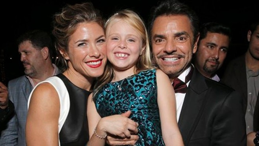 "IMAGE DISTRIBUTED FOR PANTELION FILMS - Jessica Lindsey, Loreto Peralta and Eugenio Derbez attend Pantelion Films' ""Instructions Not Included"" Los Angeles Premiere After Party, on Thursday, Aug. 22, 2013 in Los Angeles. (Photo by Todd Williamson/Invision for Pantelion Films/AP Images)"