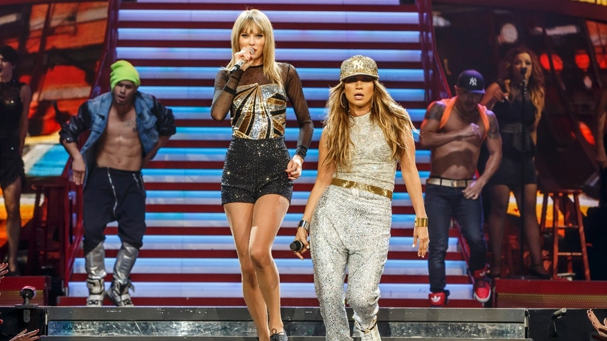 Taylor Swift performed the fourth of a four-night run of sold-out shows at the STAPLES Center in Los Angeles as part of her RED World Tour.