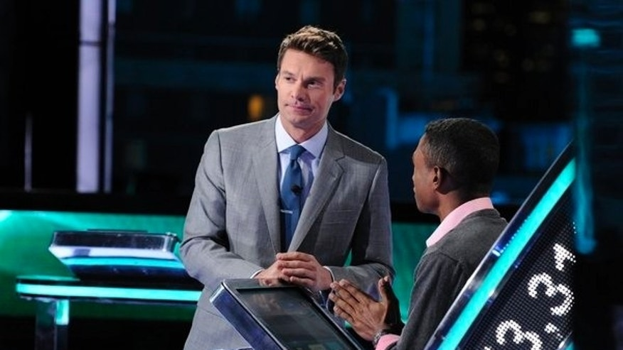 "Ryan Seacrest hosts NBC's ""Million Second Quiz."""