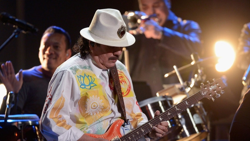 Santana during the 2012 Latin GRAMMY Awards held at the Mandalay Bay Events Center in Las Vegas, Nevada.