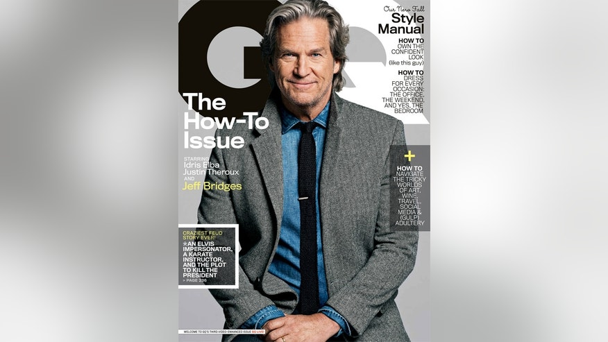 Jeff Bridges appear on the October 2013 cover of GQ.