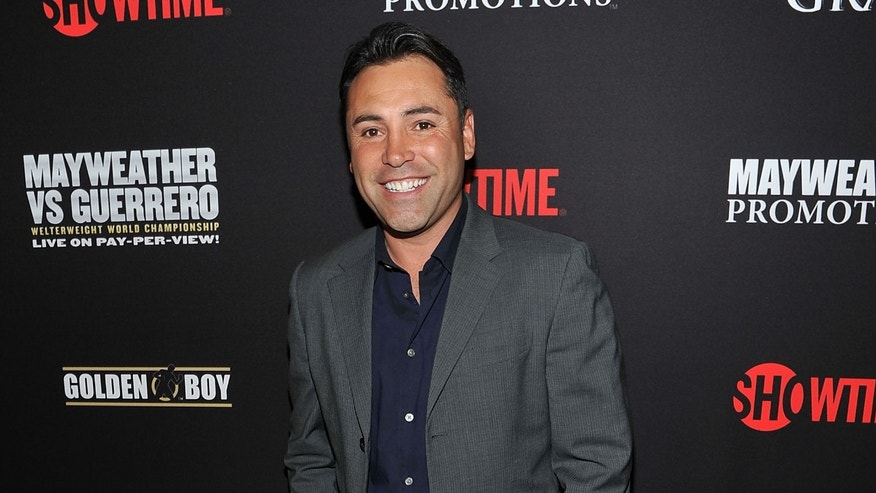 Oscar De La Hoya at the MGM Grand Hotel/Casino on May 4, 2013 in Las Vegas, Nevada.