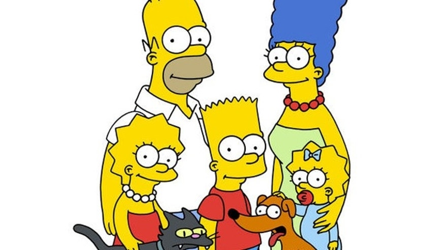 """The Simpsons"" cartoon characters are shown."