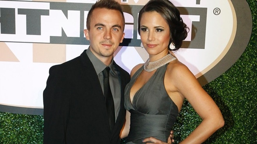 Actor Frankie Muniz and Elycia Marie Turnbow arrive on the red carpet at the Muhammad Ali Celebrity Fight Night Awards XIX in Phoenix, Arizona March 23, 2013