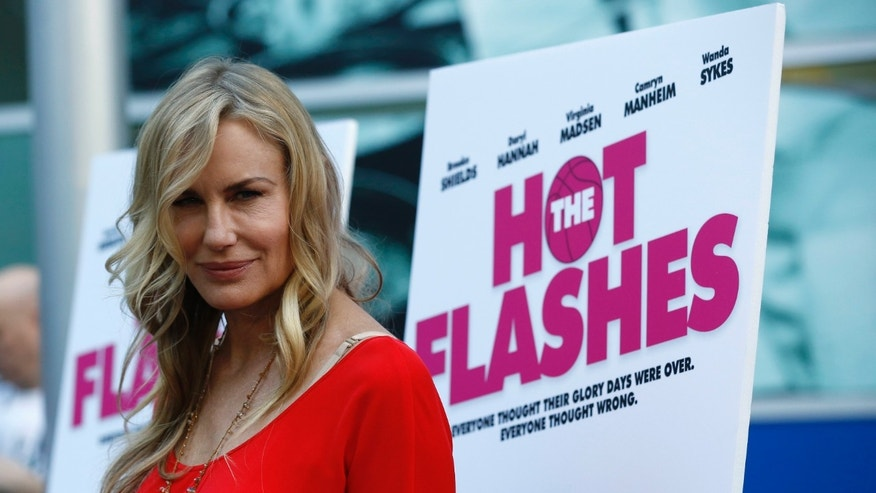 "Cast member Daryl Hannah poses at the premiere of ""The Hot Flashes"" in Los Angeles, California June 27, 2013."