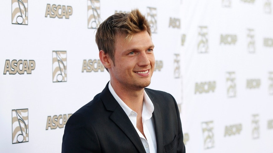 Nick Carter of the Backstreet Boys poses at 30th annual ASCAP Pop Music Awards in Hollywood, California April 17, 2013.