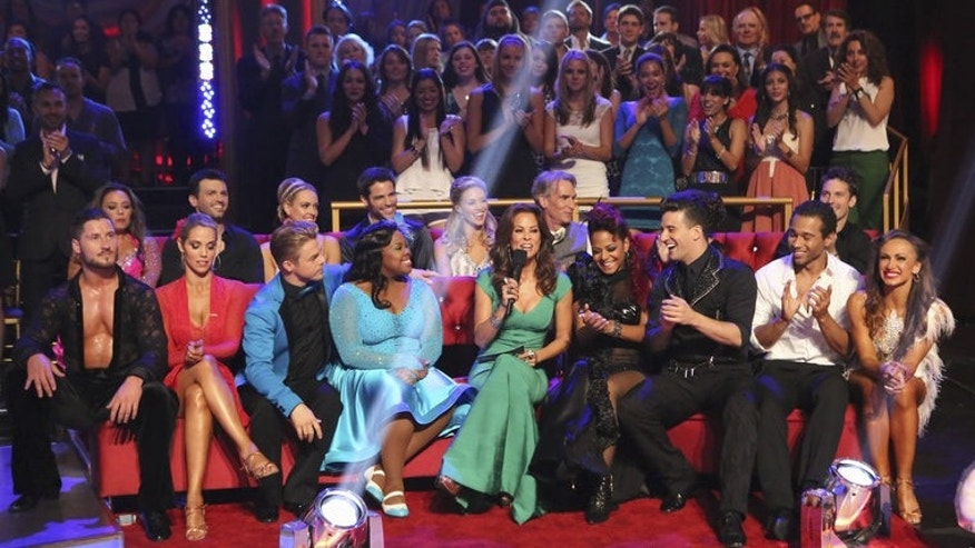 "The cast of ""Dancing With The Stars"" during week 2 of competition."