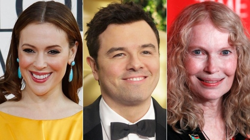 Alyssa Milano, Seth MacFarlane and Mia Farrow all commented on the partial government shut down via Twitter.
